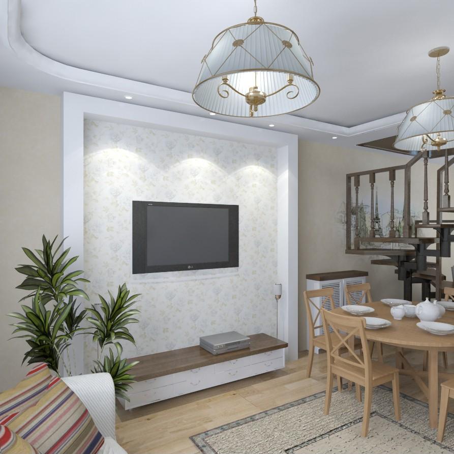 Інтер'єр заміського будинку, 1 поверх в 3d max vray зображення