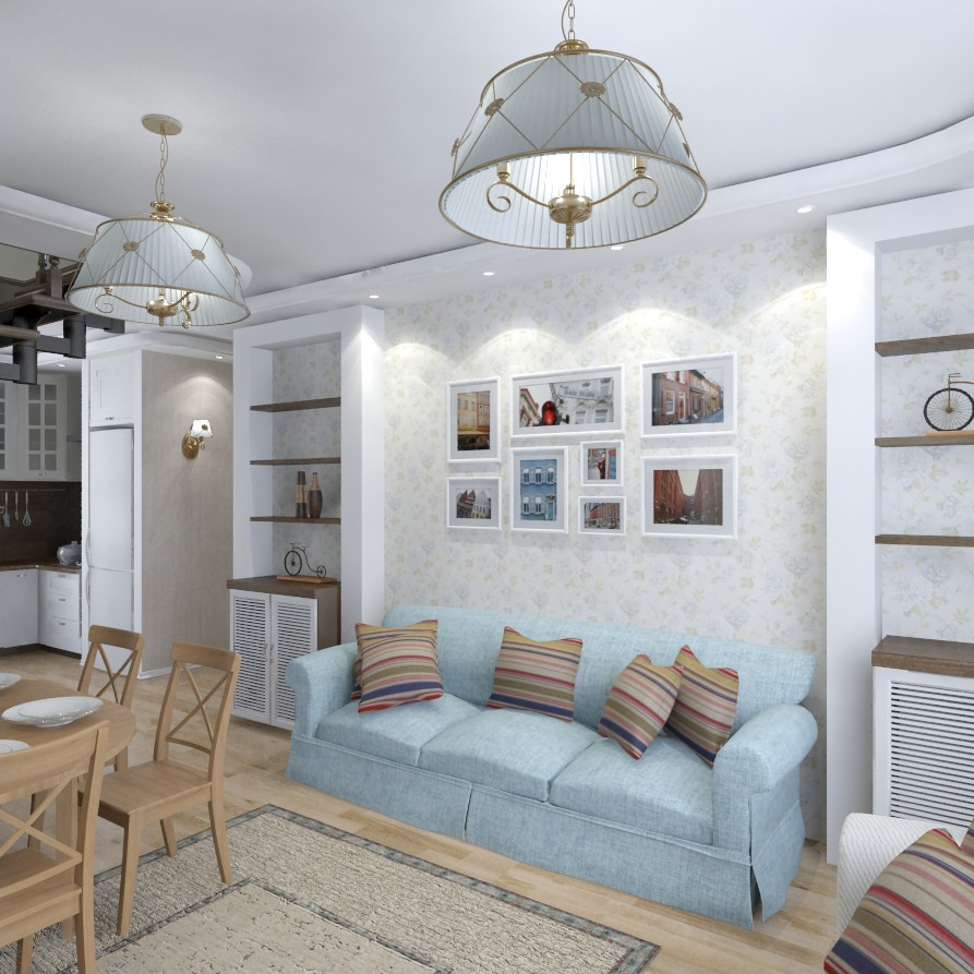 The Interior of a country house, 1 floor in 3d max vray image