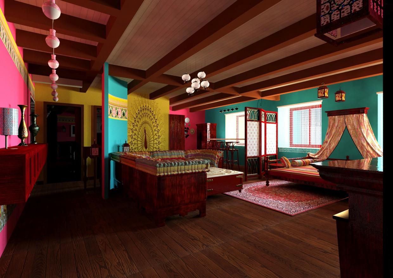 imagen de Apartamentos en estilo indio en 3d max mental ray
