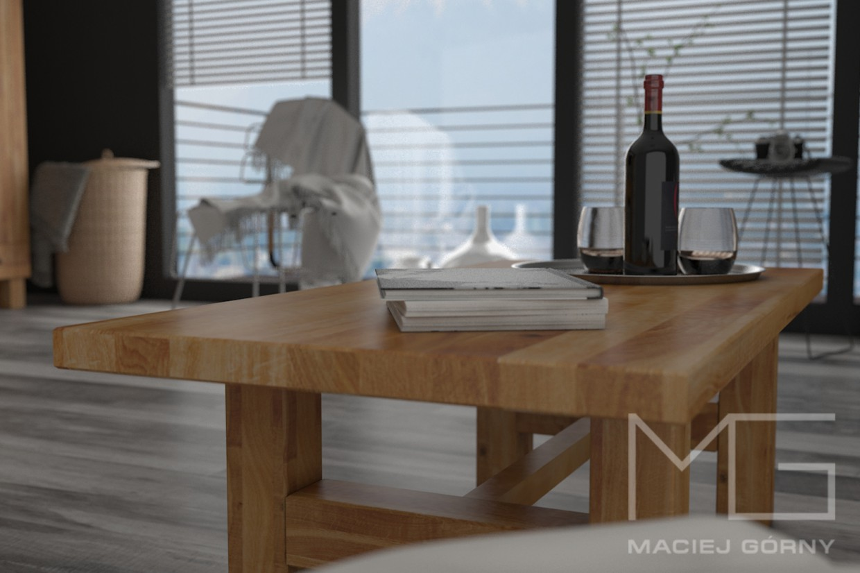 3d visualization of the project in the At the table 3d max, render vray 3.0 of Maciej Górny