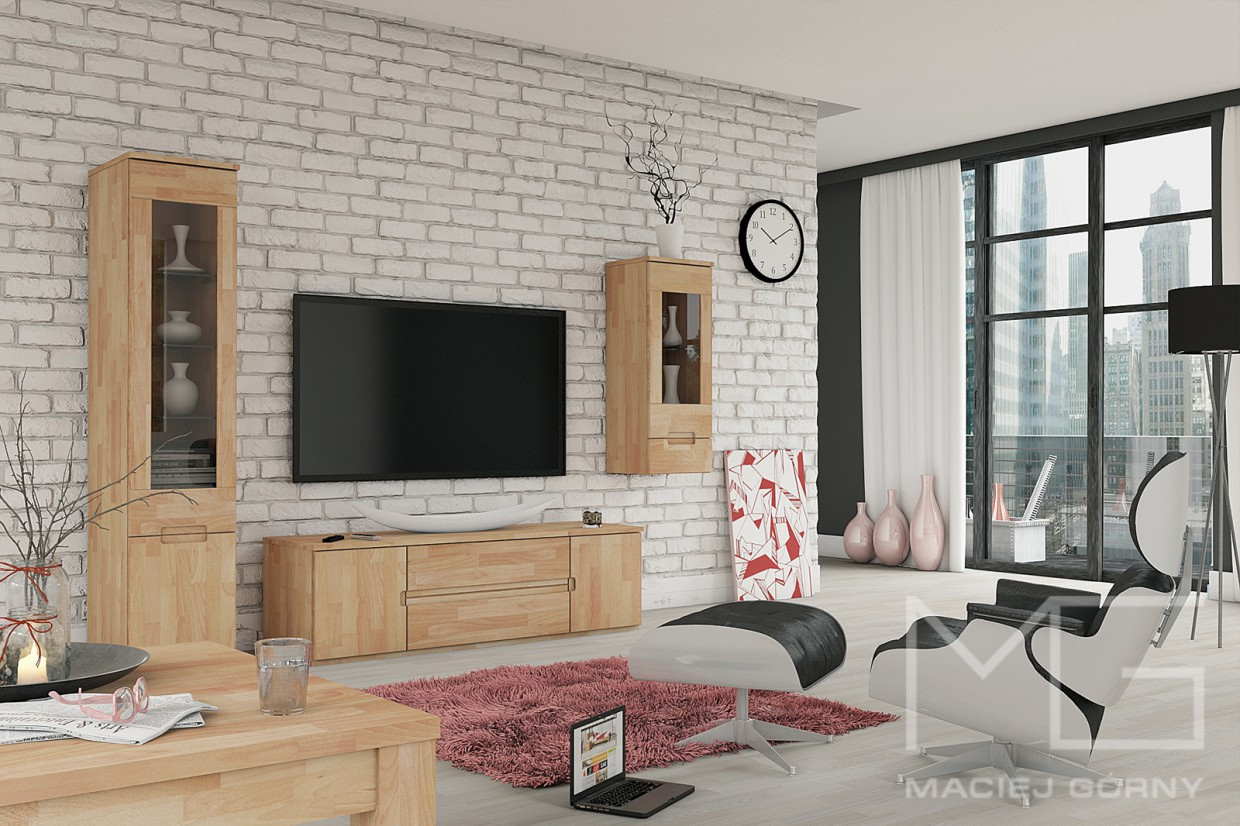 Scandinavian Living Room in 3d max vray 3.0 image