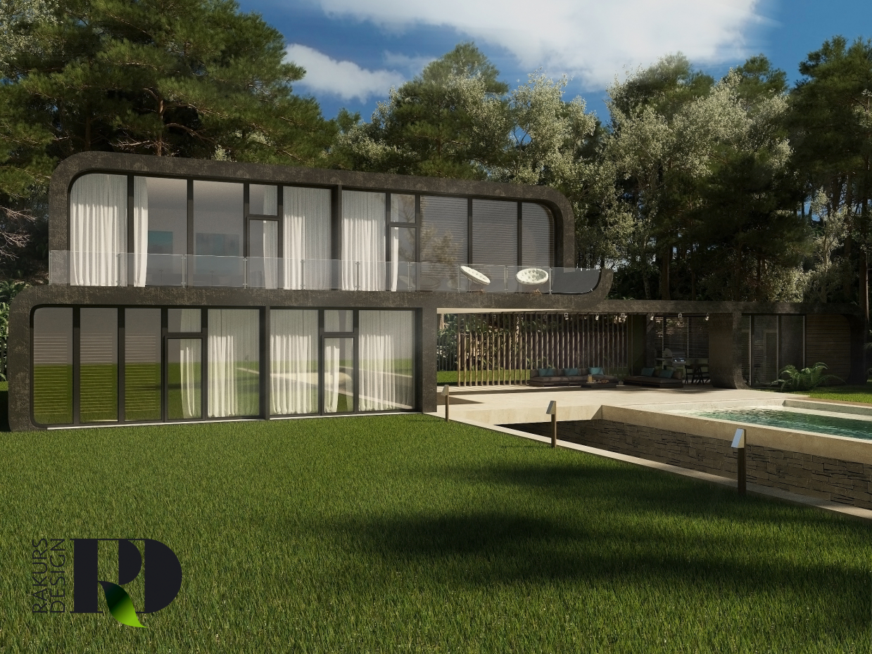 Private house in 3d max corona render image