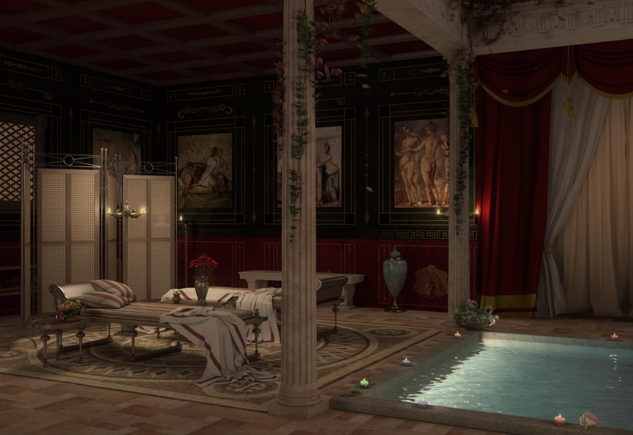 Recreation roman bath in 3d max vray 2.5 image