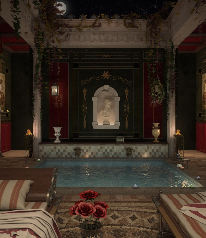 imagen de Baño de recreación romana en 3d max vray 2.5
