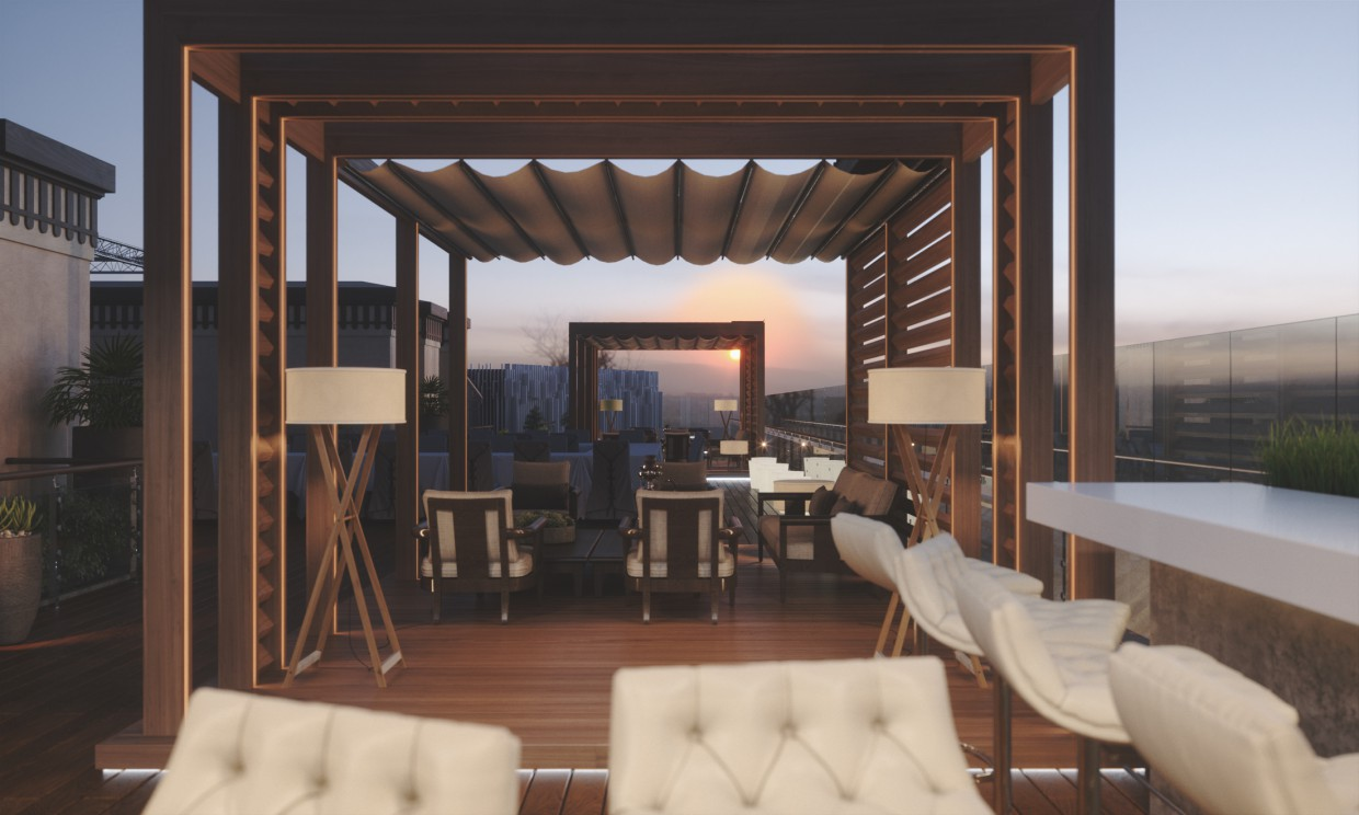 Terrace (Day & night versions) in 3d max Other image