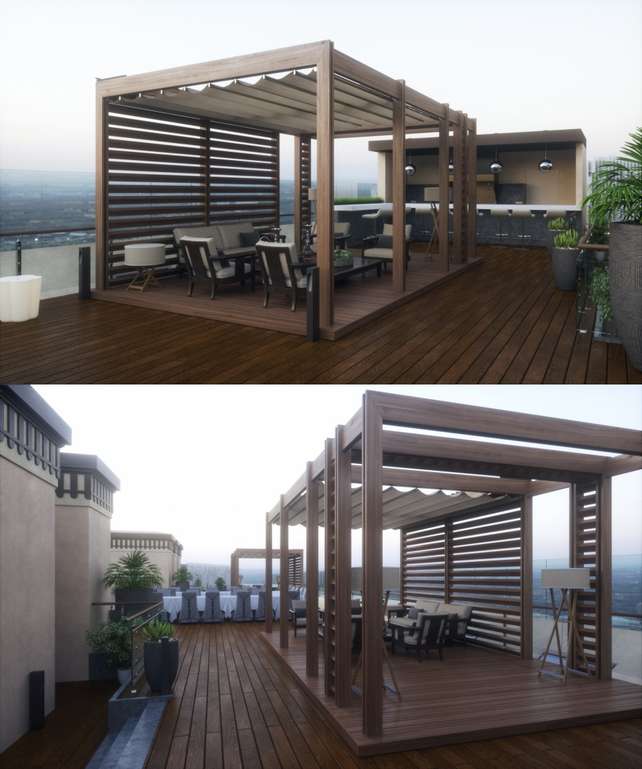 Terrace (Day & night versions) в 3d max Other изображение