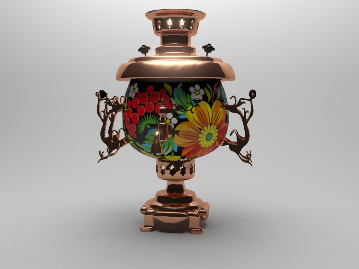 Samovar in 3d max mental ray image