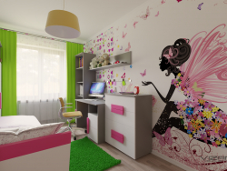 Children's room for a girl