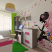 Children's room for a girl in SketchUp vray 3.0 image