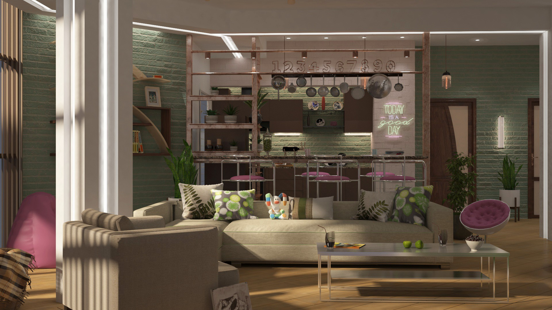 my work with the interior in 3d max vray 3.0 image