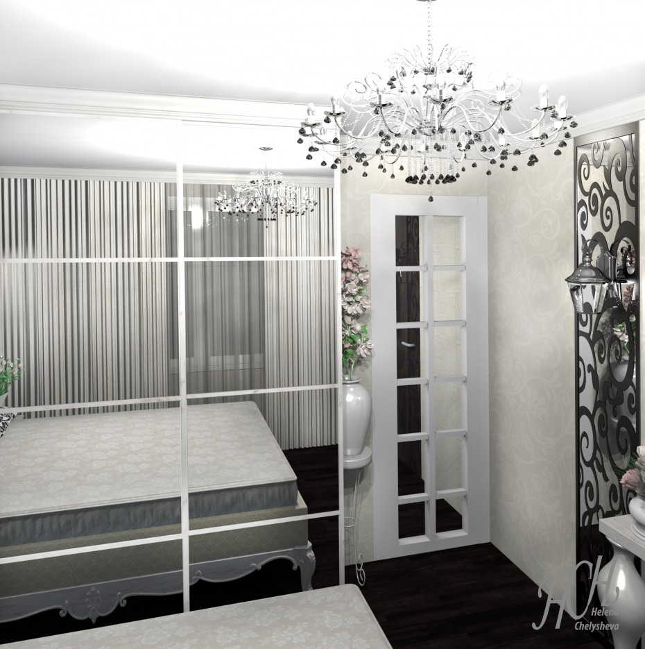 Bedroom with small kitchen for the hairdresser, working at home in Other thing Other image