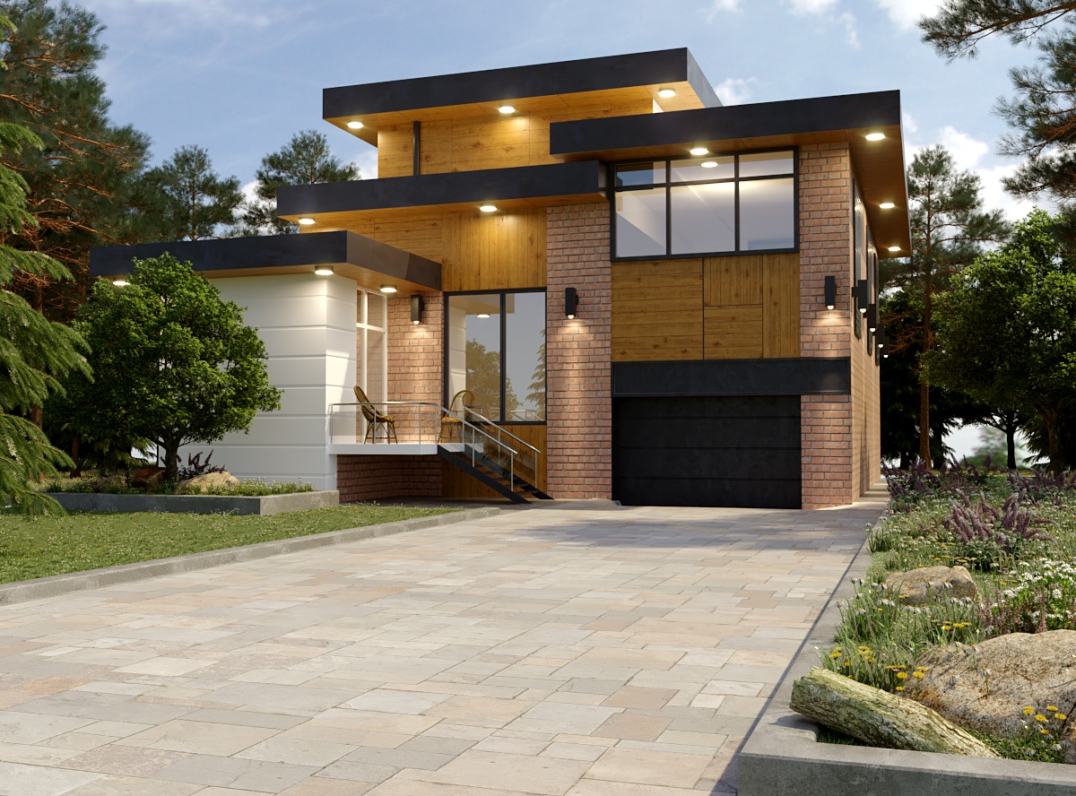 Simply House :) in 3d max corona render image