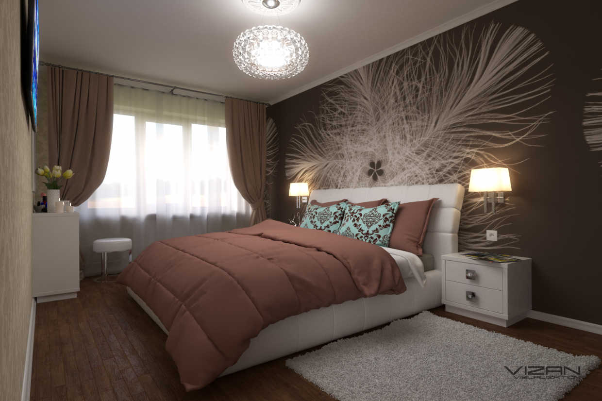 Bedroom in SketchUp vray 3.0 image