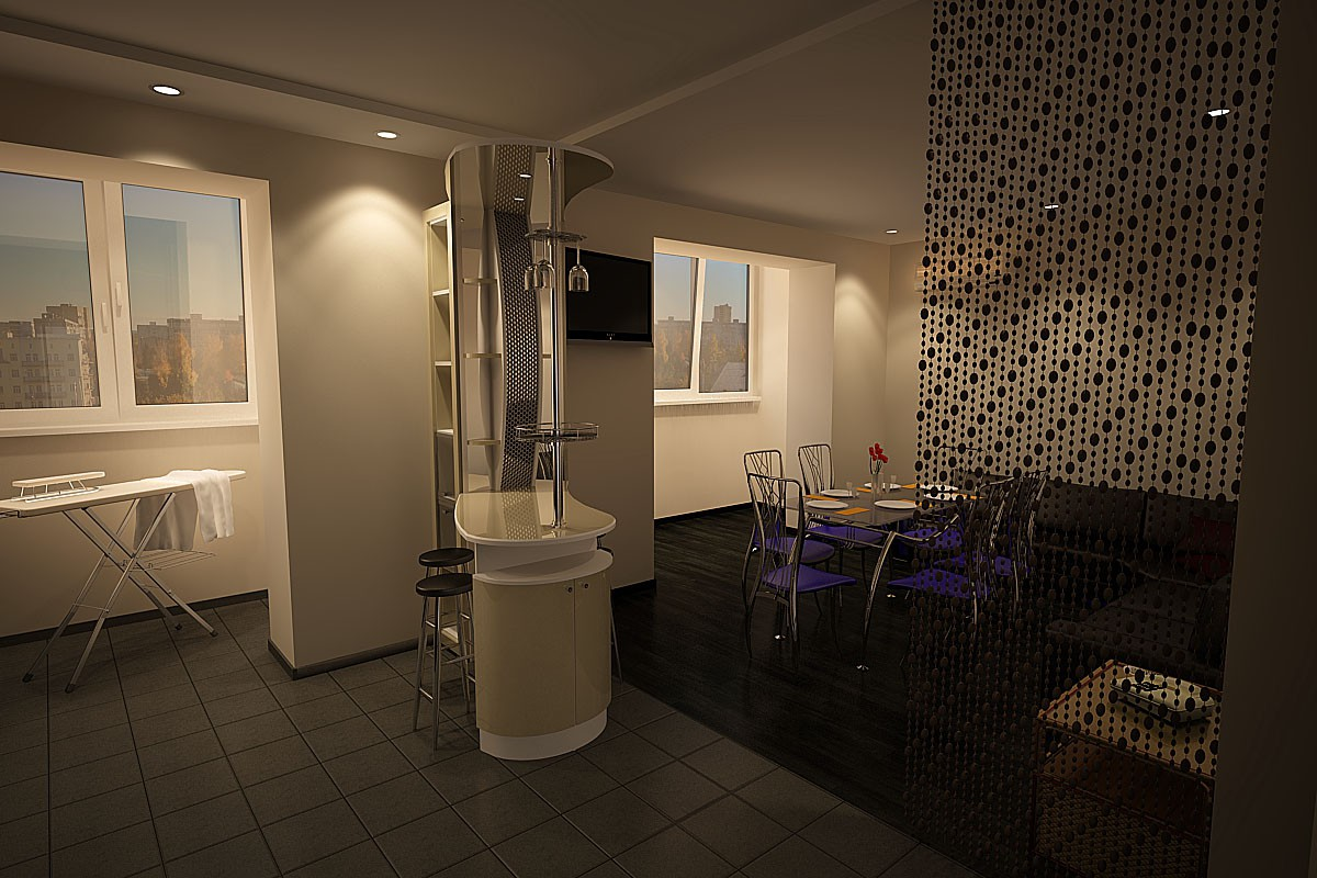 visualización 3D del proyecto en el Cocina 3d max render vray tascha