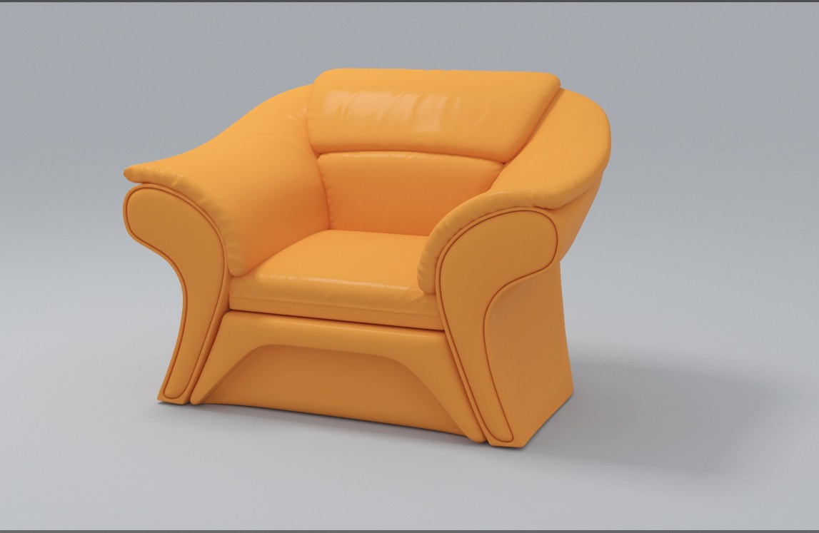 3d visualization of the project in the Armchair 3d max, render vray 3.0 of stasonich