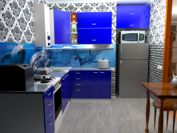 Variant of the color scheme of the kitchen