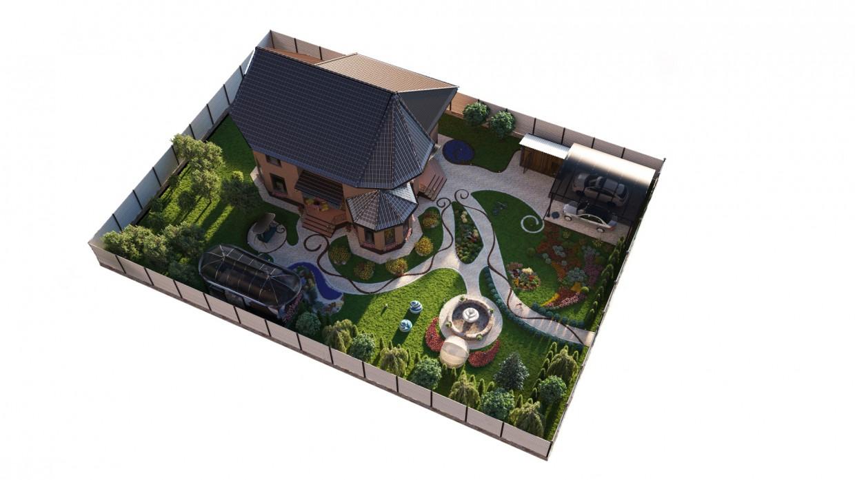 Landscape в 3d max corona render зображення
