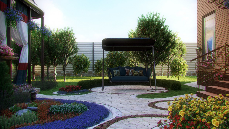 Landscape в 3d max corona render изображение