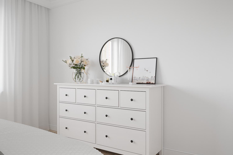 Scandinavian Bedroom in 3d max corona render image