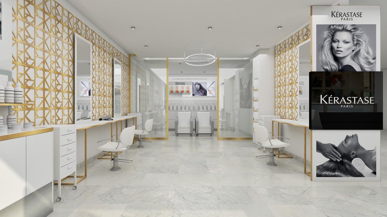 Салон - парикмахерская в SketchUp vray 2.0 изображение