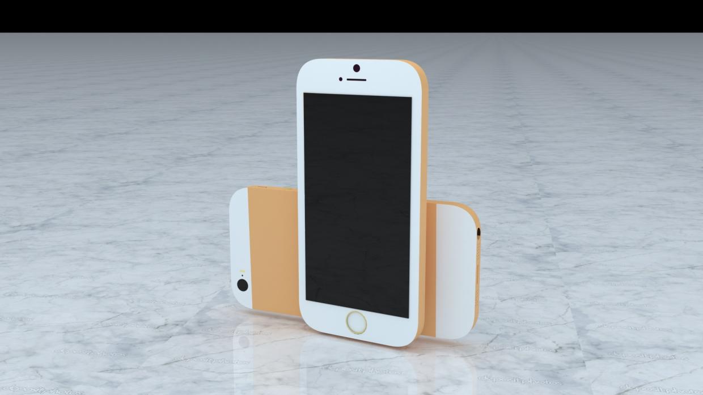 आईफोन मॉडलिंग 3d max vray 3.0 में प्रस्तुत छवि