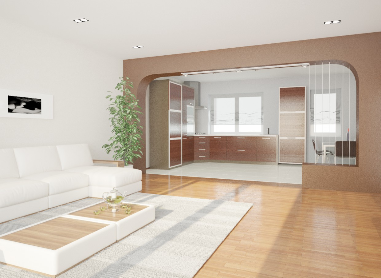 3d visualization of the project in the Living room 3d max, render vray of Shabetos