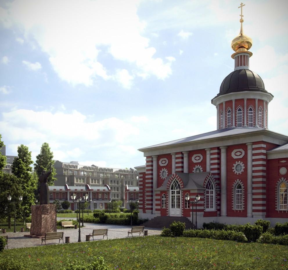 Рогожська Слобода в 3d max vray 3.0 зображення