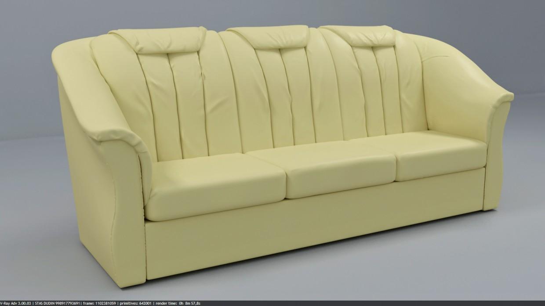 imagen de sofá en 3d max vray 3.0