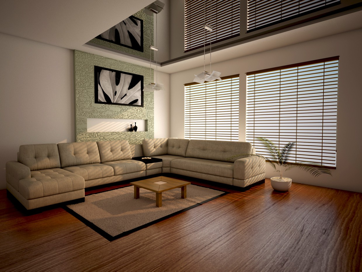 first room in 3d max vray image