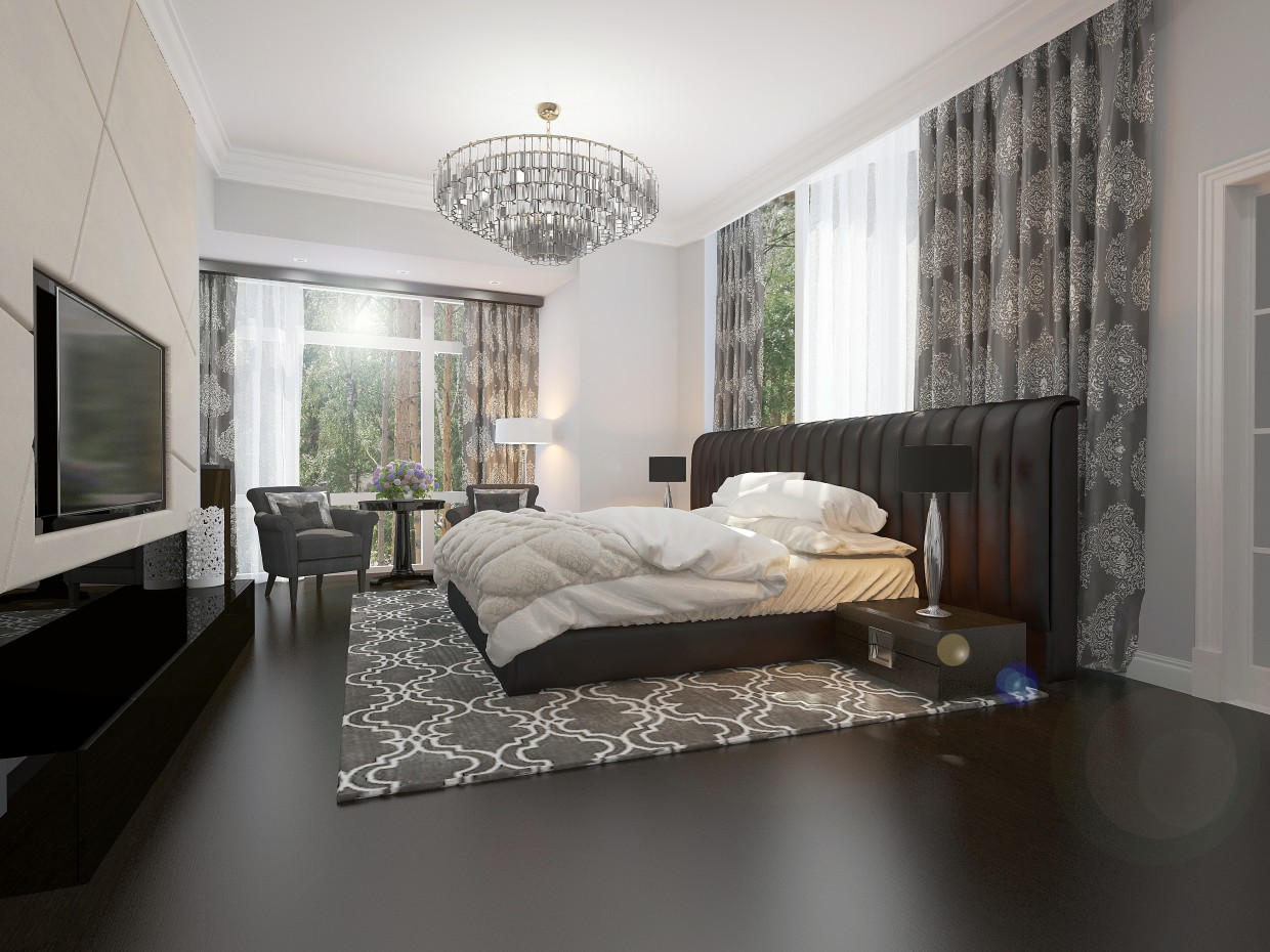 Bedroom in 3d max vray image