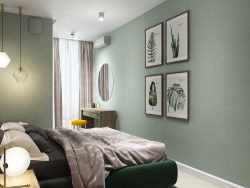 Bedroom apartment on Lipki, Kiev. Little Green Project