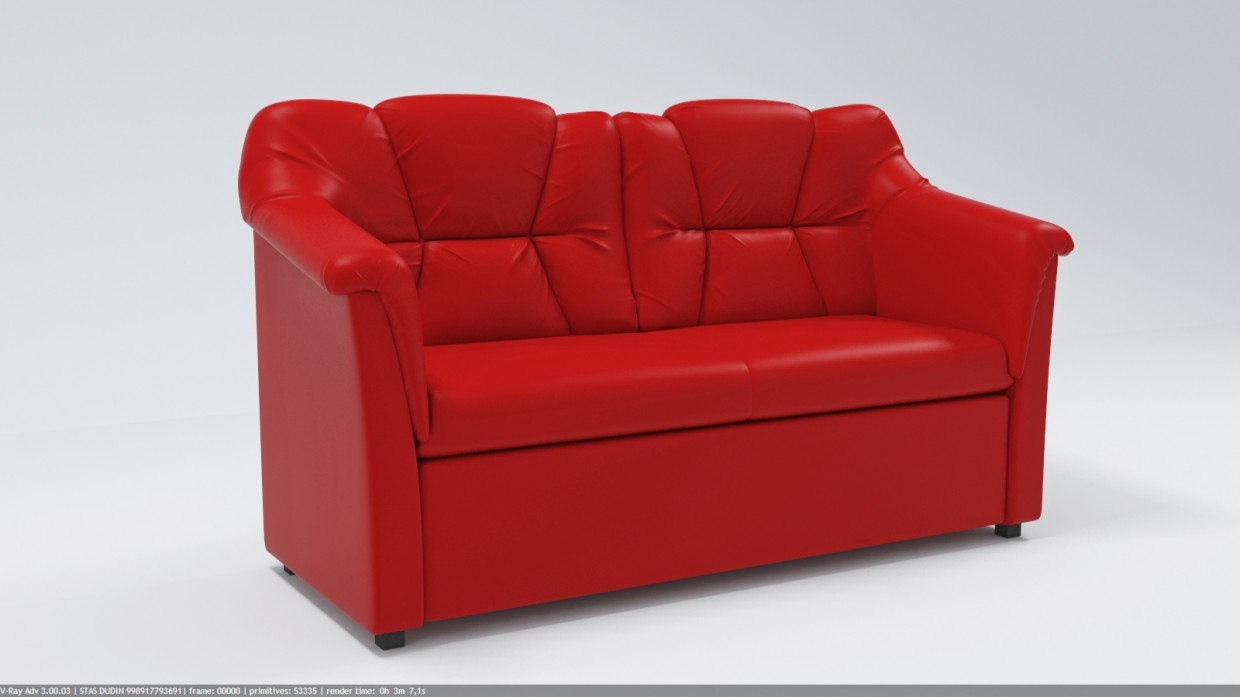 3d visualization of the project in the sofa 3d max, render vray 3.0 of stasonich