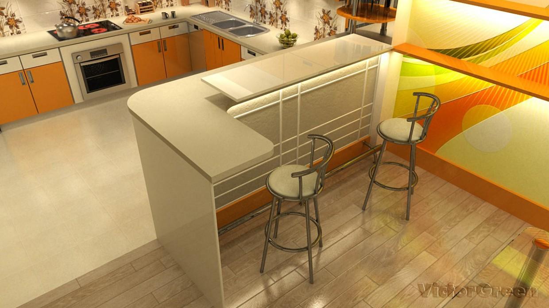 Кухонька в 3d max vray изображение