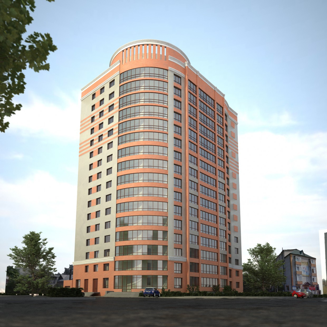 Building under construction in Barnaul in Cinema 4d vray 2.0 image