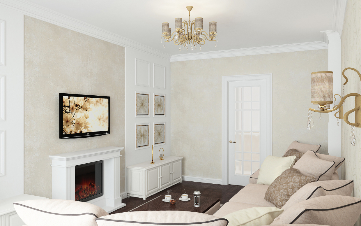 The sitting room of our esteemed client. Project Sofia Kievskaya, city of Kiev in 3d max vray 3.0 image