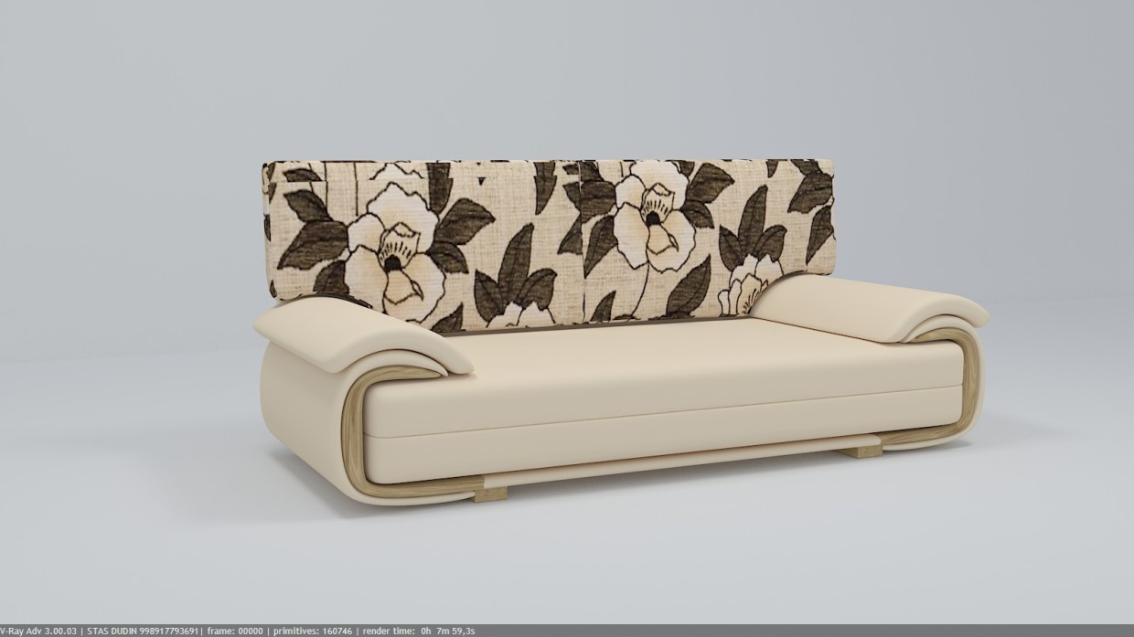Sofa LANO LUX 3DL in 3d max vray 3.0 image