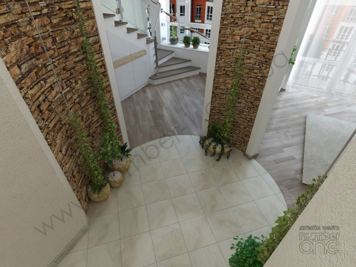 "The ""Patio"" at the apartment in 3d max vray image"