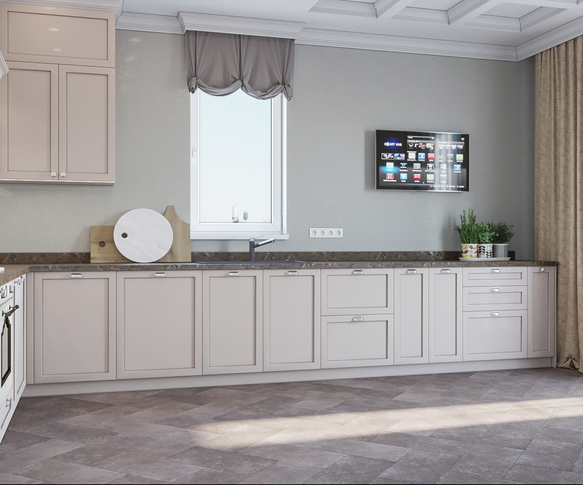 Neoclassical cuisine in 3d max corona render image