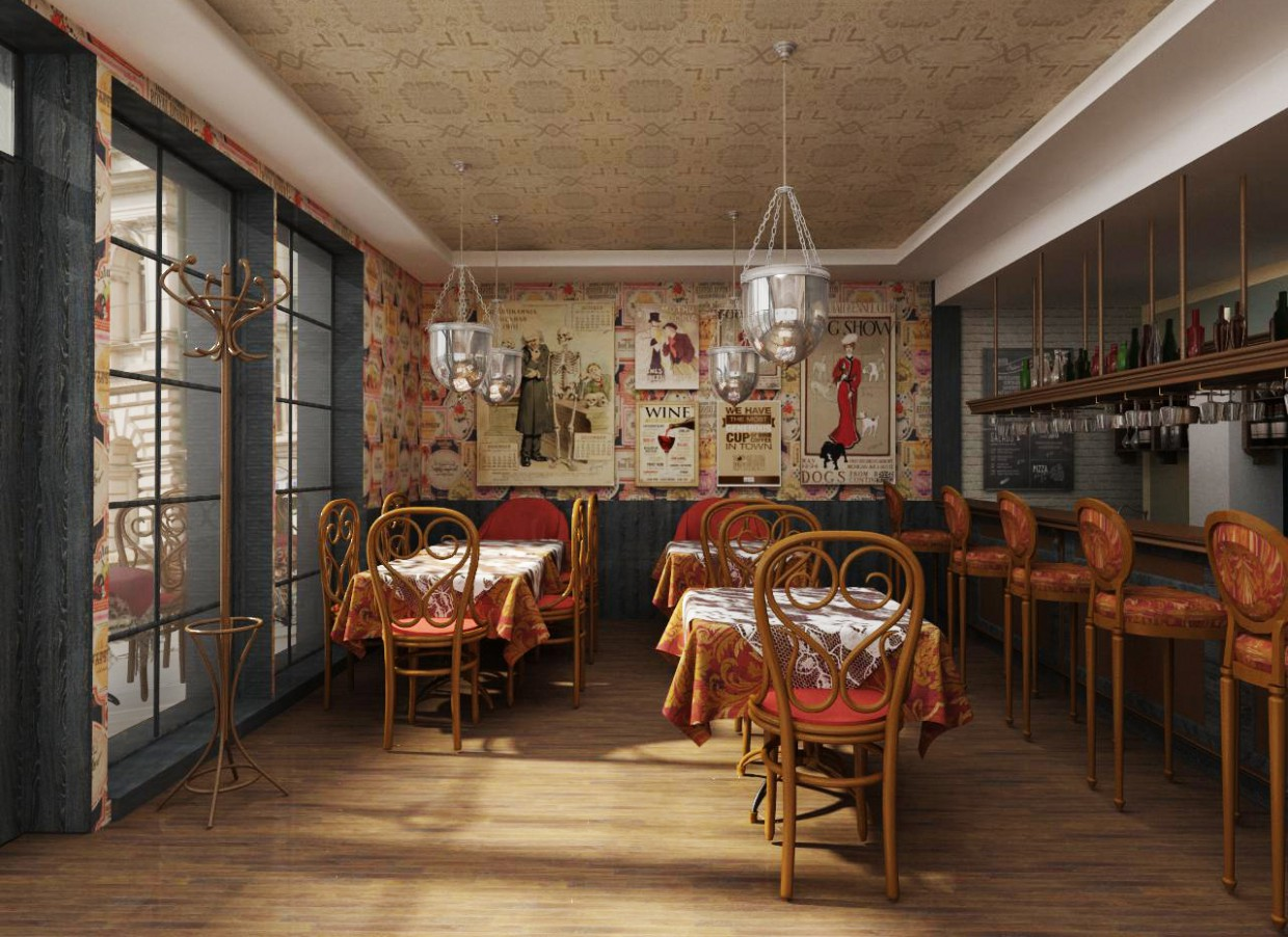 Design Cafe in 3d max vray immagine