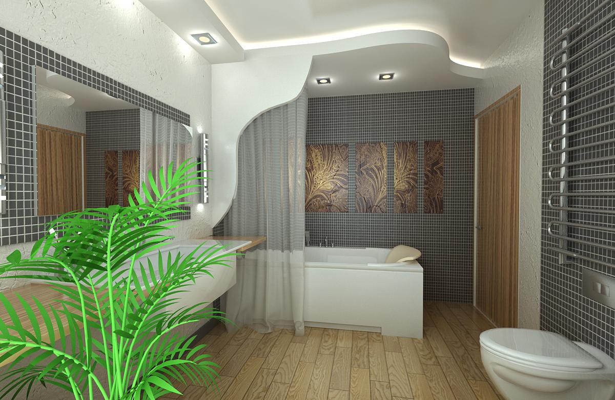 3d visualization of the project in the Bathroom 3d max, render vray of NatiLitvinenko