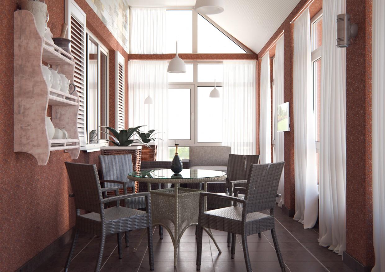 Терраса в 3d max corona render изображение