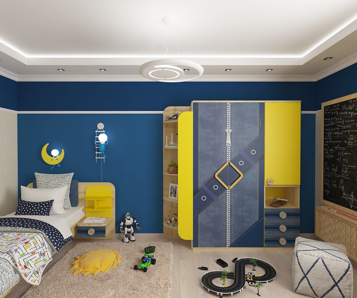 Room for a boy. Design and visualization in 3d max vray 2.5 image