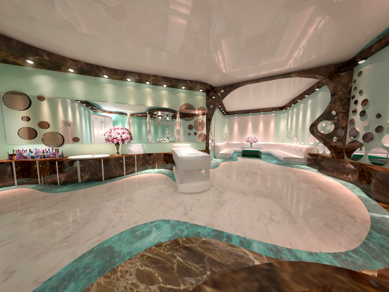 Relaxation room spa in 3d max vray image