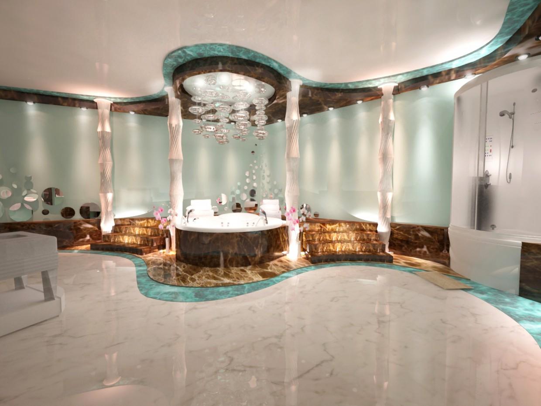 imagen de spa sala de relajación en 3d max vray