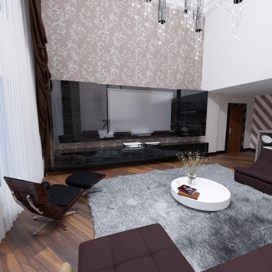 imagen de Sala de en 3d max corona render