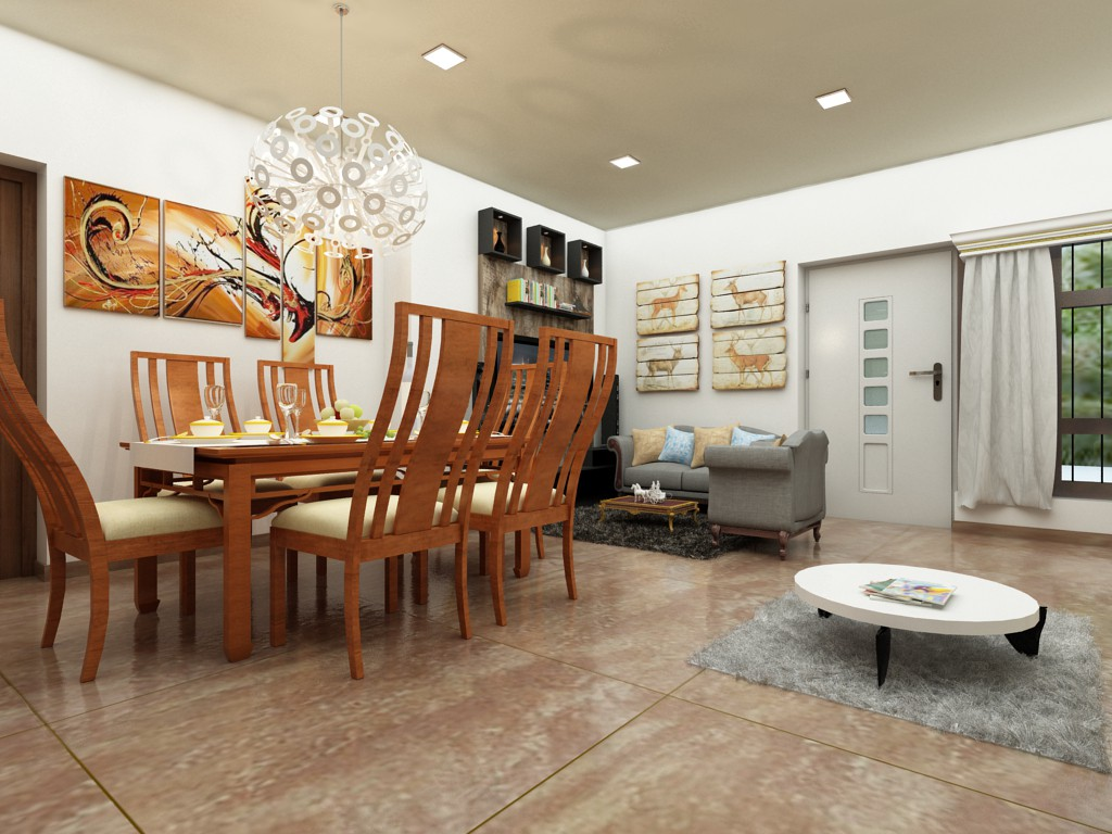 Living and dining in 3d max vray 3.0 image
