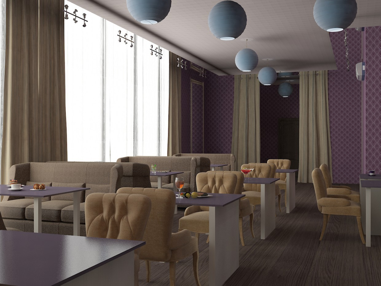 3d visualization of the project in the Cafe 3d max, render vray of Анастасія Йосипівна