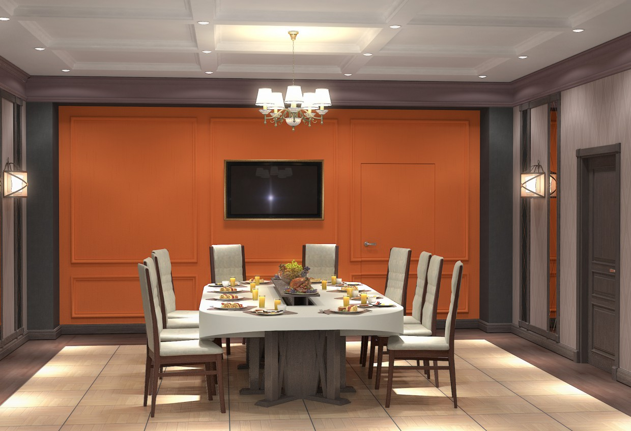 Banquet Hall  in  3d max   vray  image