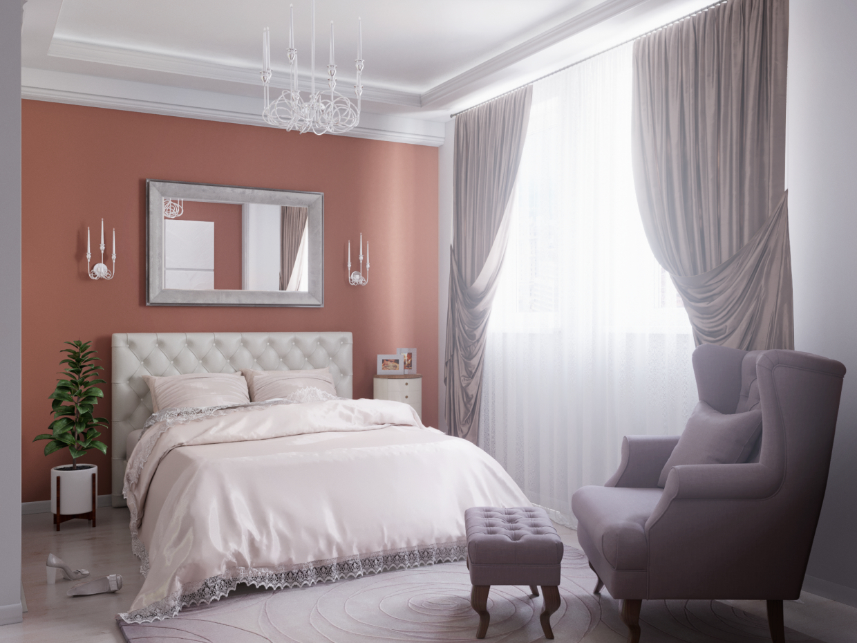 спальная комната in 3d max corona render image