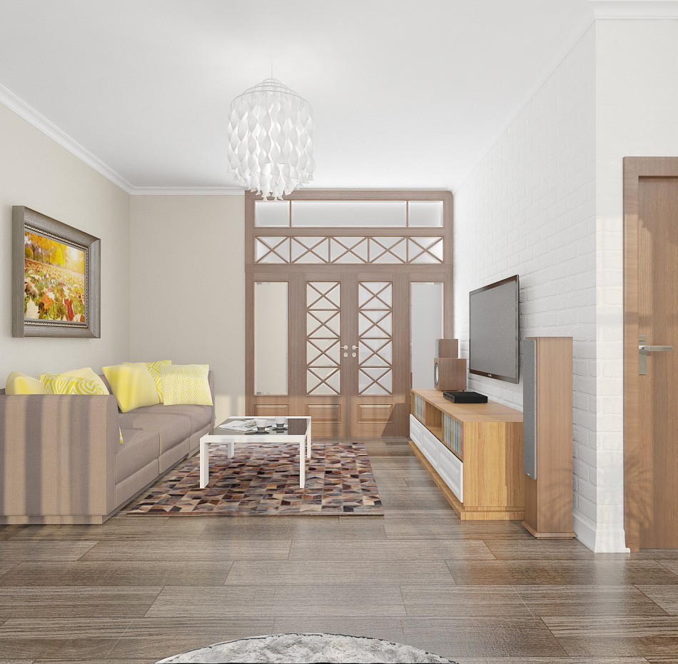 Provence apartment design in 3d max vray image